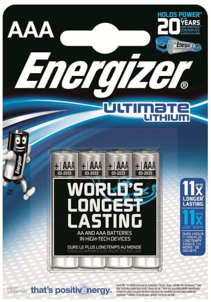 Energizer AAA 4ks Ultimate Lithium