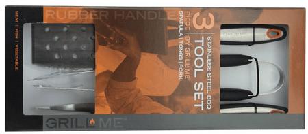 GrillMe pribor za žar, 3 kos - Odprta embalaža