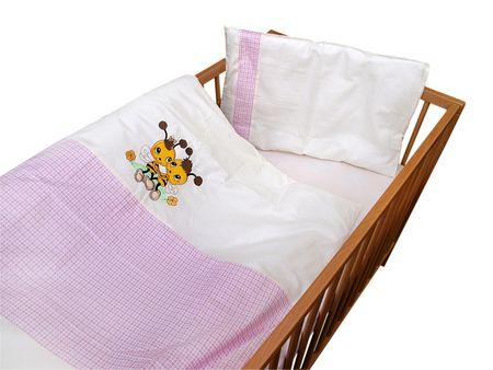 COSING 2-delni set posteljnine De Luxe Čebela, roza