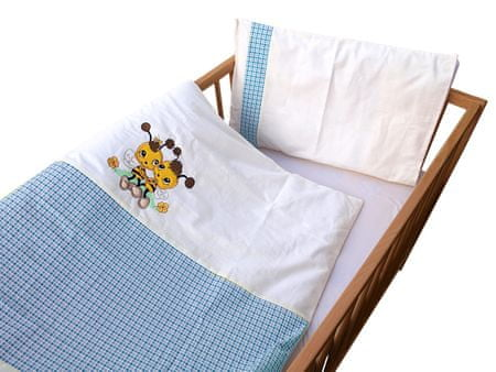 COSING 2-delni set posteljnine De Luxe Čebela, modra