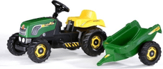 Rolly Toys traktor s prikolicom na pedale, zeleni