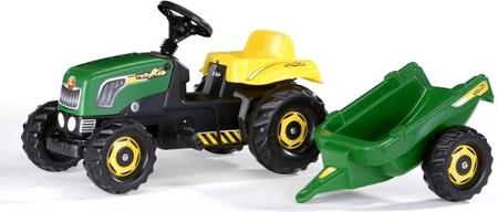 Rolly Toys Šliapací traktor Rolly Kid s vlečkou - zelený