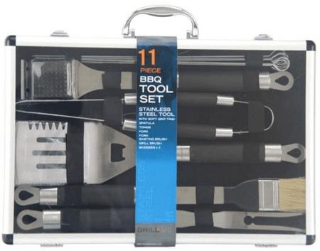 GrillMe 11 dílný BBQ set grilovacího nářadí
