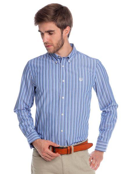 Chaps proužkovaná pánská košile XXL modrá