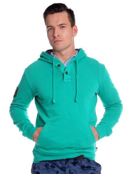 Chaps pánská mikina s kapucí M zelená