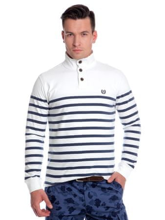 Chaps pánské pruhované tričko L bílá