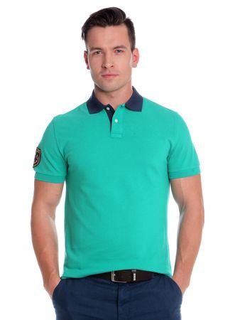 Chaps pánská polokošile s kontrastním límečkem L zelená