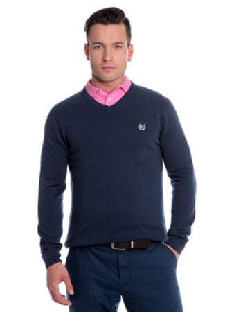 Chaps pánský svetr s výstřihem do V XL tmavě modrá