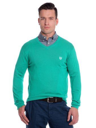 Chaps pánský svetr s výstřihem do V M zelená