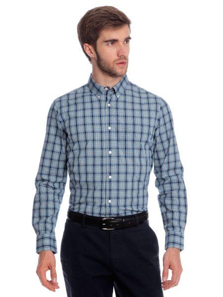 Chaps pánská košile s dlouhým rukávem XXL modrá