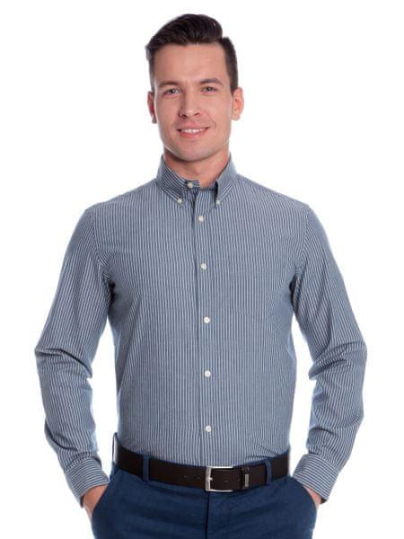 Chaps pánská košile s tenkými proužky M modrá