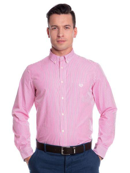 Chaps pánská košile s kapsičkou na hrudi XXL růžová