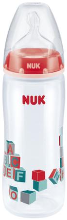 Nuk FC+ PP Extra velká láhev pro kašovitou stravu, červená