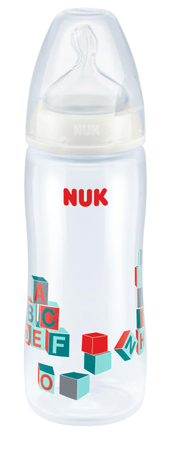 Nuk FC+ PP Extra velká láhev pro kašovitou stravu, bílá