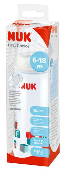 Nuk FC+ PP Extra velká láhev pro kašovitou stravu, zelená