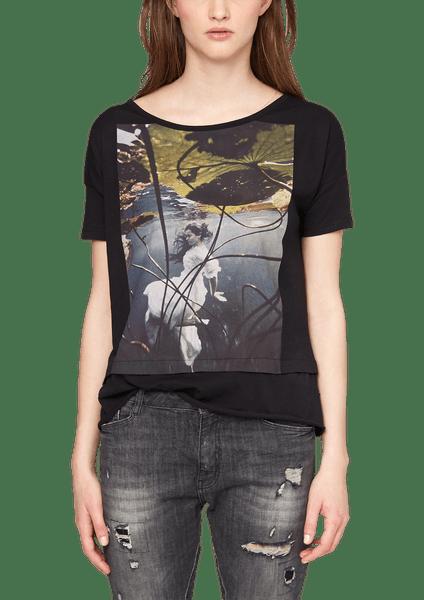 s.Oliver dámské bavlněné tričko XS černá
