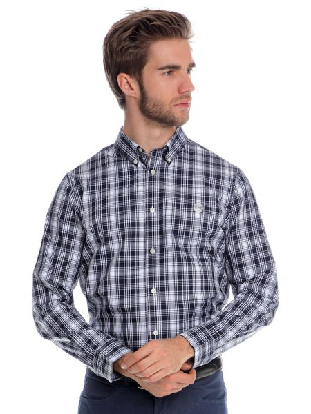 Chaps pánská košile s dlouhým rukávem M tmavě modrá