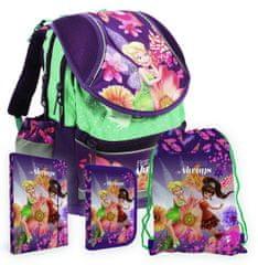 Karton P+P Školní set batoh, penál, sáček, desky FAIRIES