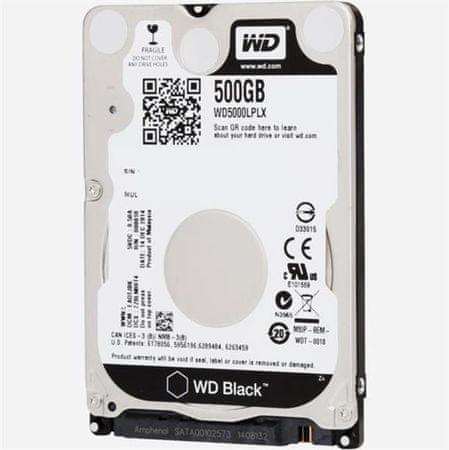 WD trdi disk 500 GB SATA 7200 2.5 Black