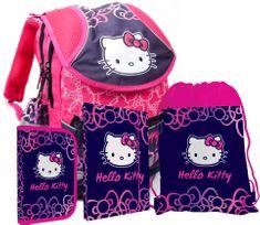 Karton P+P Školní set batoh, penál, sáček, desky Hello Kitty