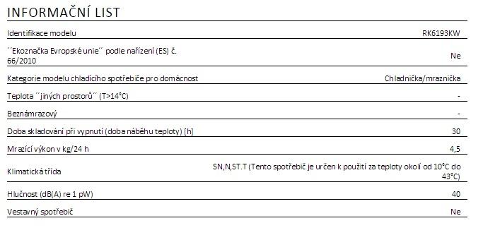 Gorenje RK 6193 AW