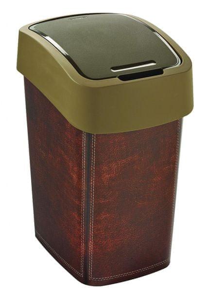 Curver Odpadkový koš Flipbin 25 l Leather