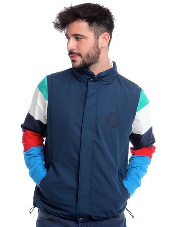 Chaps pánská vesta s kapsami na cvočky L modrá
