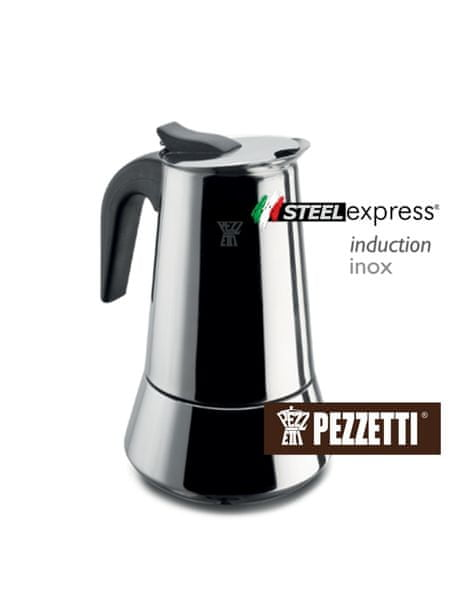 Pezzetti Steelexpress nerez moka konvice, 2 šálky, 100ml