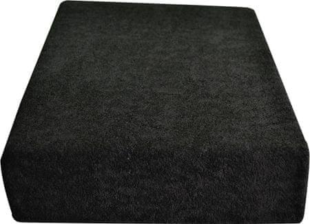 Greno rjuha iz frotirja, 180 x 200 cm, črna
