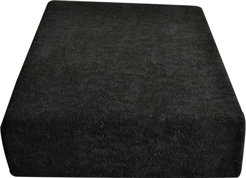 Greno Froté prostěradlo 100 x 200 cm černá