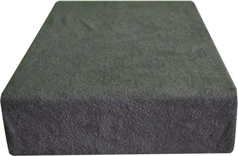 Greno Froté prostěradlo 100 x 200 cm tmavě šedá