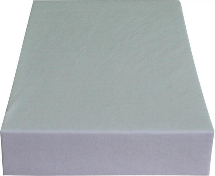 Greno Jersey prostěradlo 220 x 200 cm světle šedá
