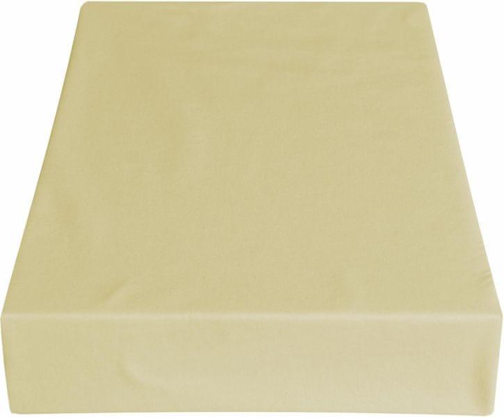 Greno Jersey prostěradlo 220 x 200 cm béžová