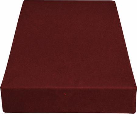 Greno rjuha Jersey, 220 x 200 cm, vinsko rdeča