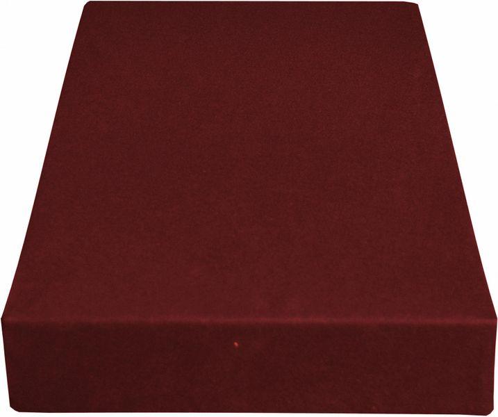Greno Jersey prostěradlo 180 x 200 cm vínová