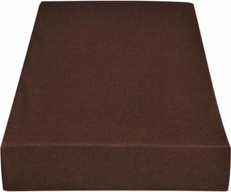 Greno rjuha Jersey, 180 x 200 cm, rjava