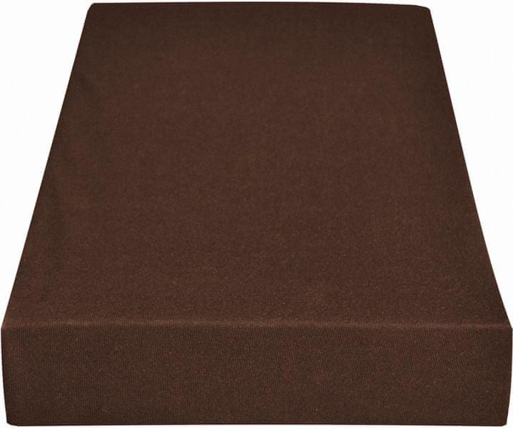 Greno Jersey prostěradlo 140 x 200 cm hnědá