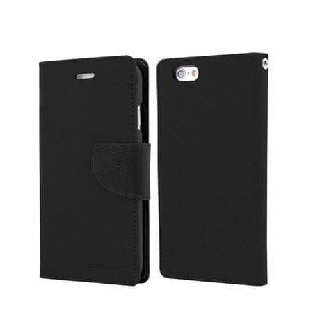 Goospery preklopna torbica Fancy Diary za Samsung Galaxy S6 Edge (G925), črna