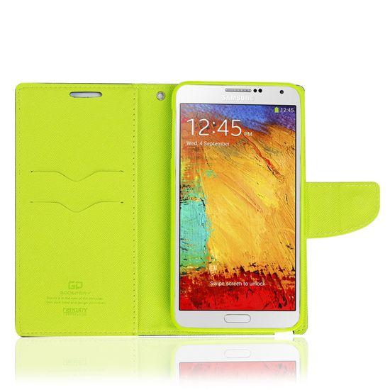 Goospery preklopna torbica Fancy Diary za Samsung Galaxy S6 Edge (G925), modro-rumen