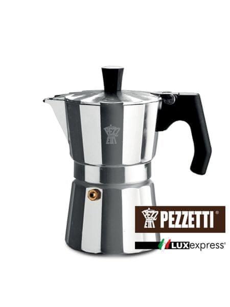 Pezzetti Luxexpress moka konvice, 3 šálky, 150ml