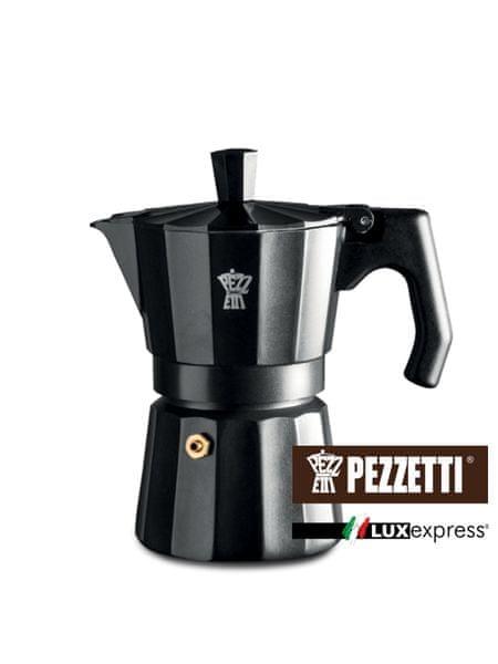 Pezzetti Luxexpress černá konvice, 3 šálky, 150ml