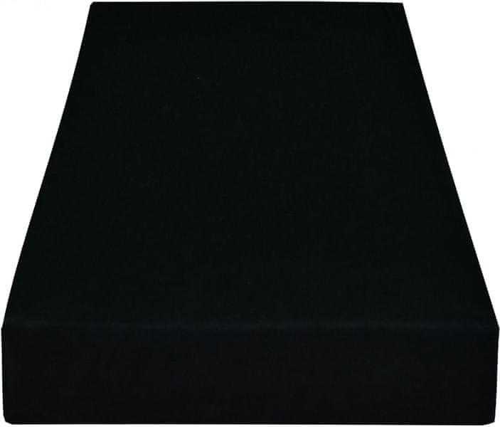 Greno Jersey prostěradlo 140 x 200 cm černá