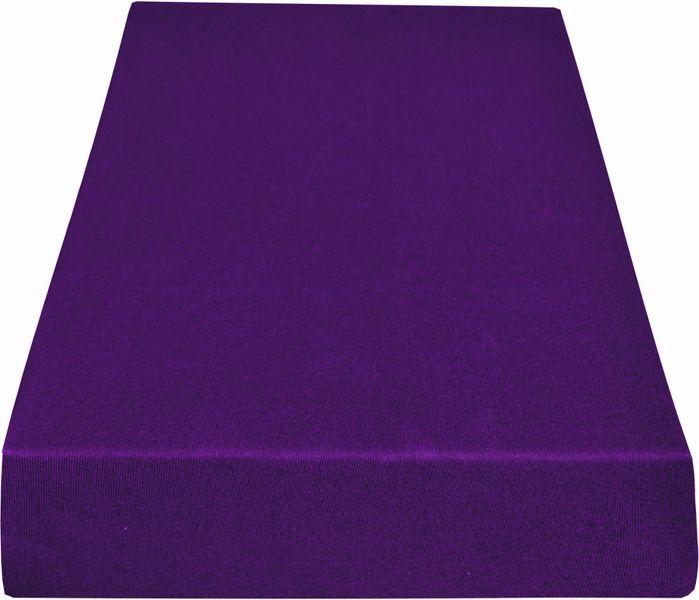 Greno Jersey prostěradlo 140 x 200 cm fialová