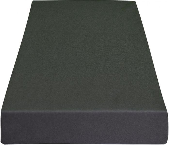Greno Jersey prostěradlo 100 x 200 cm tmavě šedá