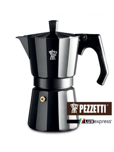Pezzetti Luxexpress černá konvice, 6 šálků, 300ml