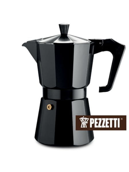 Pezzetti Italexpress konvice moka, 6 šálků, 300ml, černá