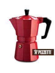 Pezzetti Italexpress konvice moka, 6 šálků, 300ml, červená