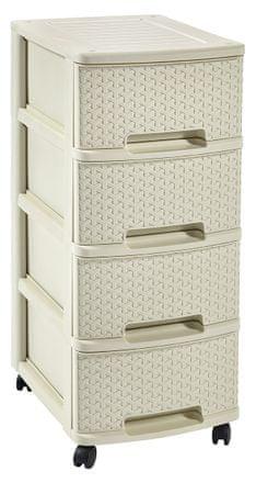 CURVER My Style Regał 4 szuflady beżowy