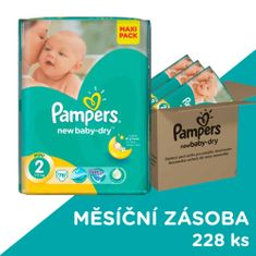 Pampers Active New Baby 2 Mini (3-6kg) - 228 ks