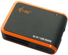 I-TEC USB 2.0 univerzální čtečka (černo / oranžová)